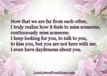 Honey I Miss You Very Much Love Letters From The Heart
