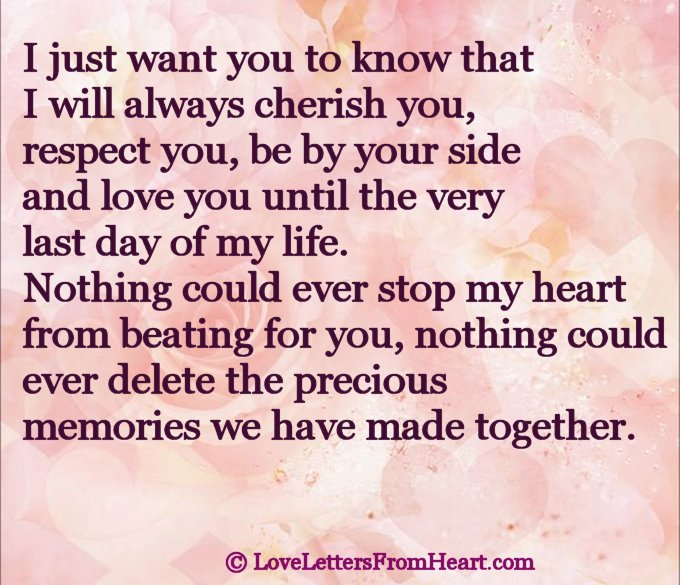Love letter to my sweetheart