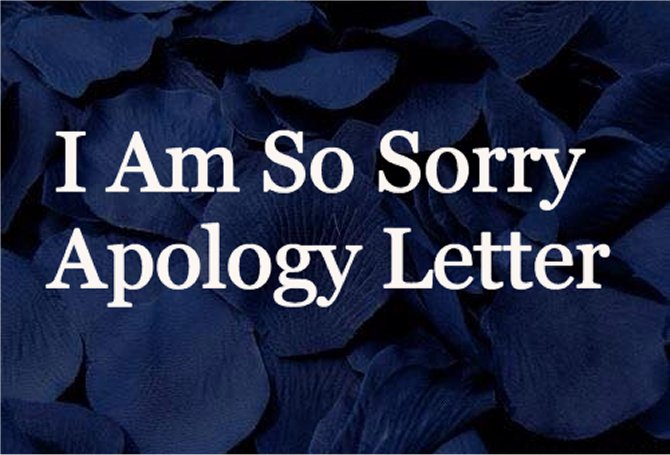 I'm sorry apology letter