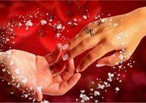 Sweet love, touching of souls