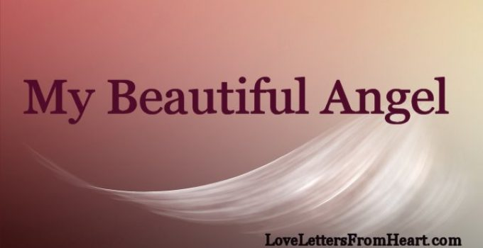 Beautiful angel, love letter