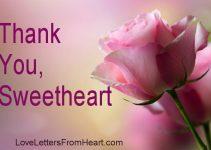 Thank you, my sweetheart